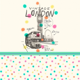 Estampado Edredón Ajustable London de JVR