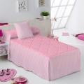 Colcha Edredón Candy Star rosa de Martina Home