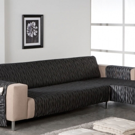 Salvasofá Chaise Longue Touareg negro de Martina Home