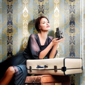 Ambiente Papel Pintado Colección Vintage Fashion 3916 de Iberostil