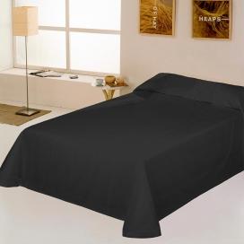 Colcha capa liso Rústico negro de Estela