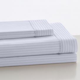 Sábana Listado Blanco 100% algodón de Estela
