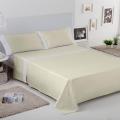 Ambiente sábana Liso Aplique 100% algodón blanco-marfil de Estela