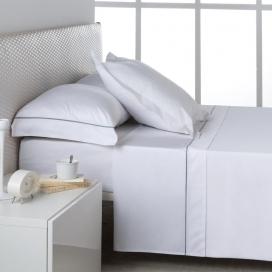 Ambiente sábana Liso Blanco 100% algodón de Estela