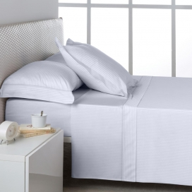 Ambiente sábana Listado Blanco 100% algodón de Estela