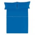 Sábana Liso Biés 100% algodón azulón de Estela