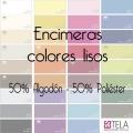 Sábanas encimeras Colores Lisos 50% alg. 50% poli. de Estela