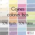 Cojines Colores Lisos 50% alg. 50% poli. de Estela