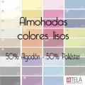 Fundas Almohada Colores Lisos 50% alg. 50% poli. de Estela
