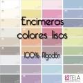 Sábanas encimeras Colores Lisos 100% algodón de Estela