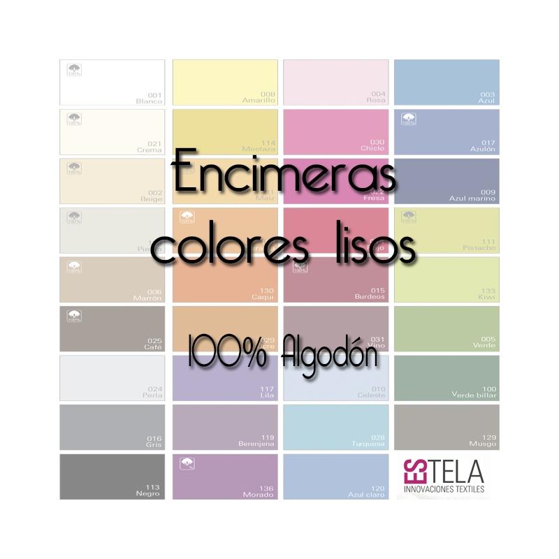 S banas encimeras colores lisos de estela 100 algod n for Encimeras de colores