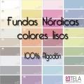 Fundas Nórdicas Colores Lisos 100% algodón de Estela