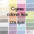 Cojines Colores Lisos 100% algodón de Estela