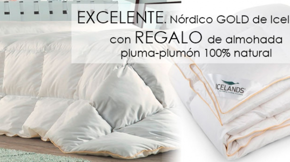 Promoción nórdico Gold de Icelands con almohada de regalo