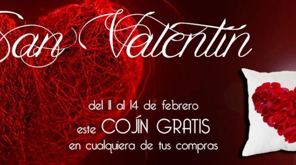 Por San Valentín llevate un cojín gratis.